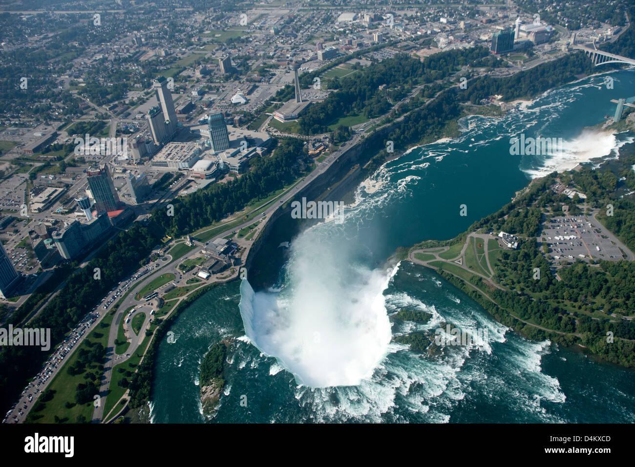 Niagara Falls Waterfall Wallpaper Aerial Horseshoe Falls Niagara Waterfalls Border Of
