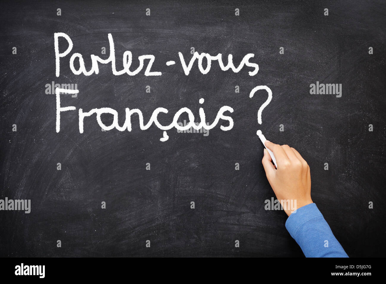 French Handwriting Stock Photos French Handwriting Stock