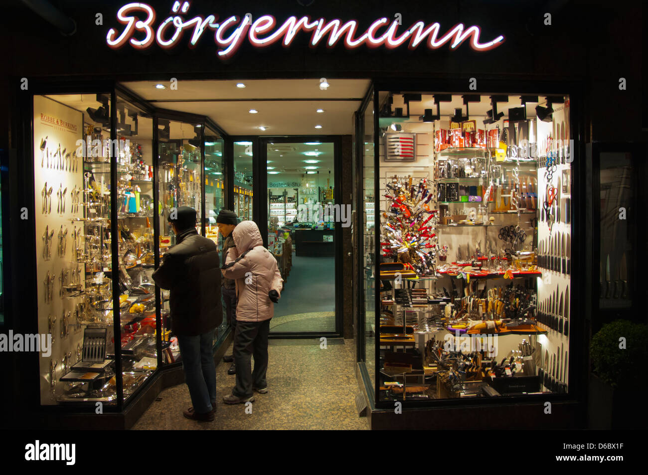 Börgermann Shop Specialising In Knives And Scissors Altstadt The Old Stock Photo Alamy