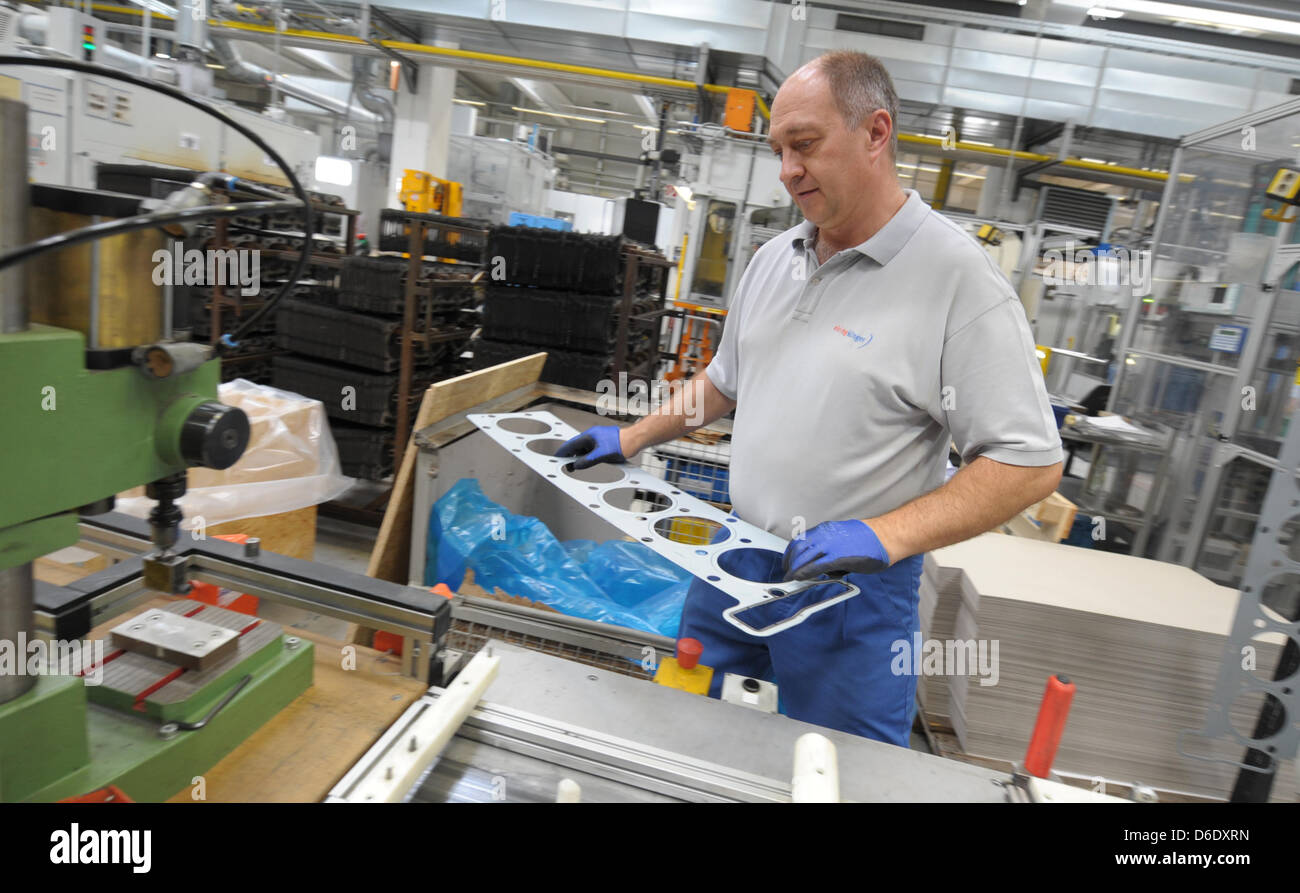 Factory Manufacturer Parts An Employee Of The German Car Spare Parts Manufacturer