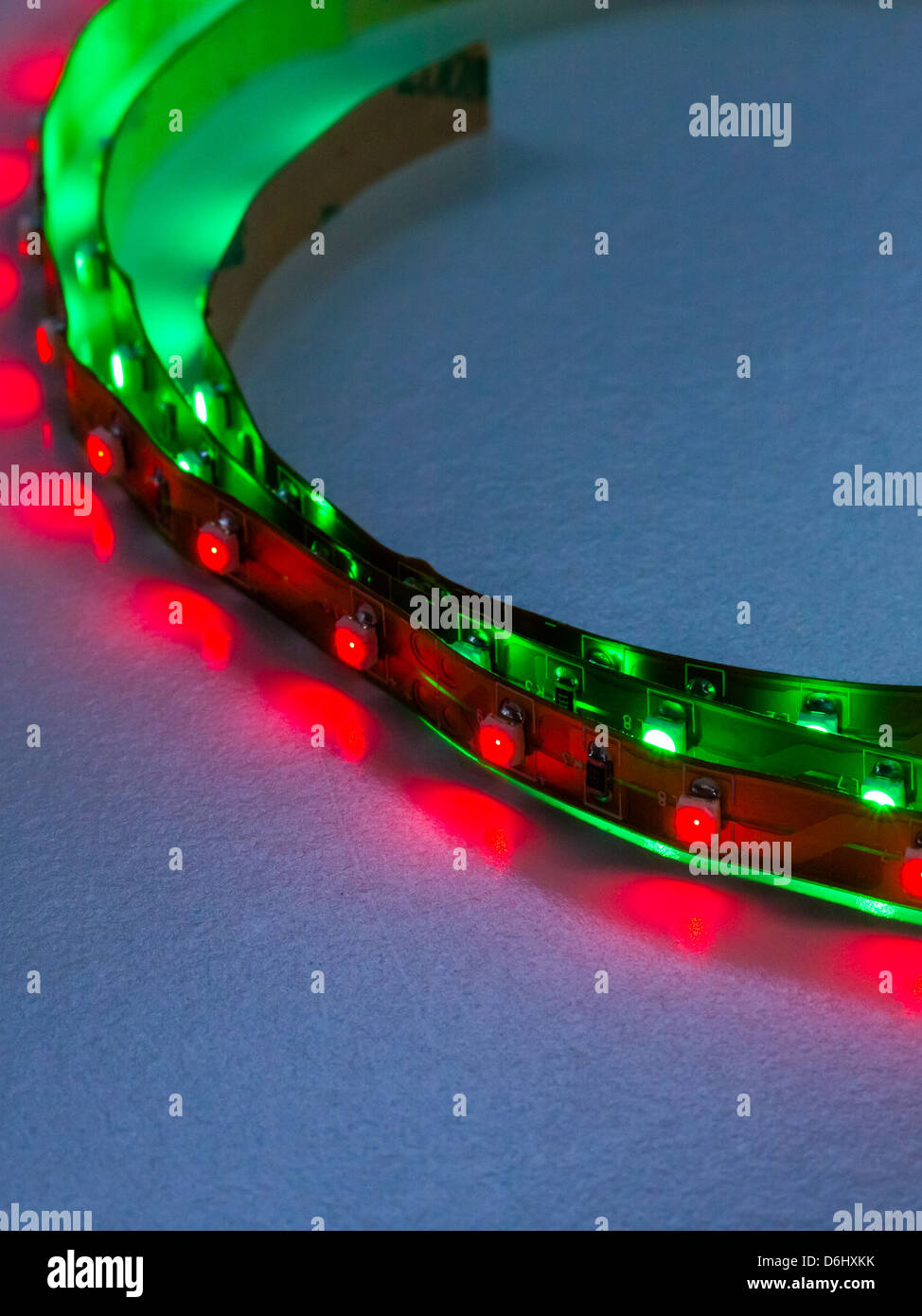 Diode Lighting Close Up Of High Intensity Led Lighting Strips Illuminated With