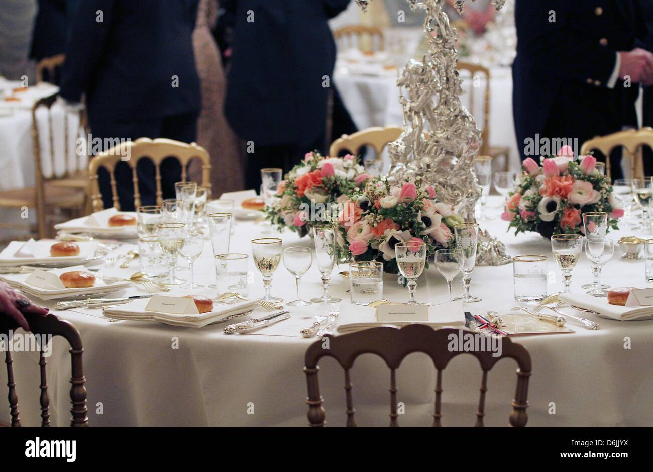 Table Luxembourg The Table Prior To The Official Dinner With Queen Beatrix At The