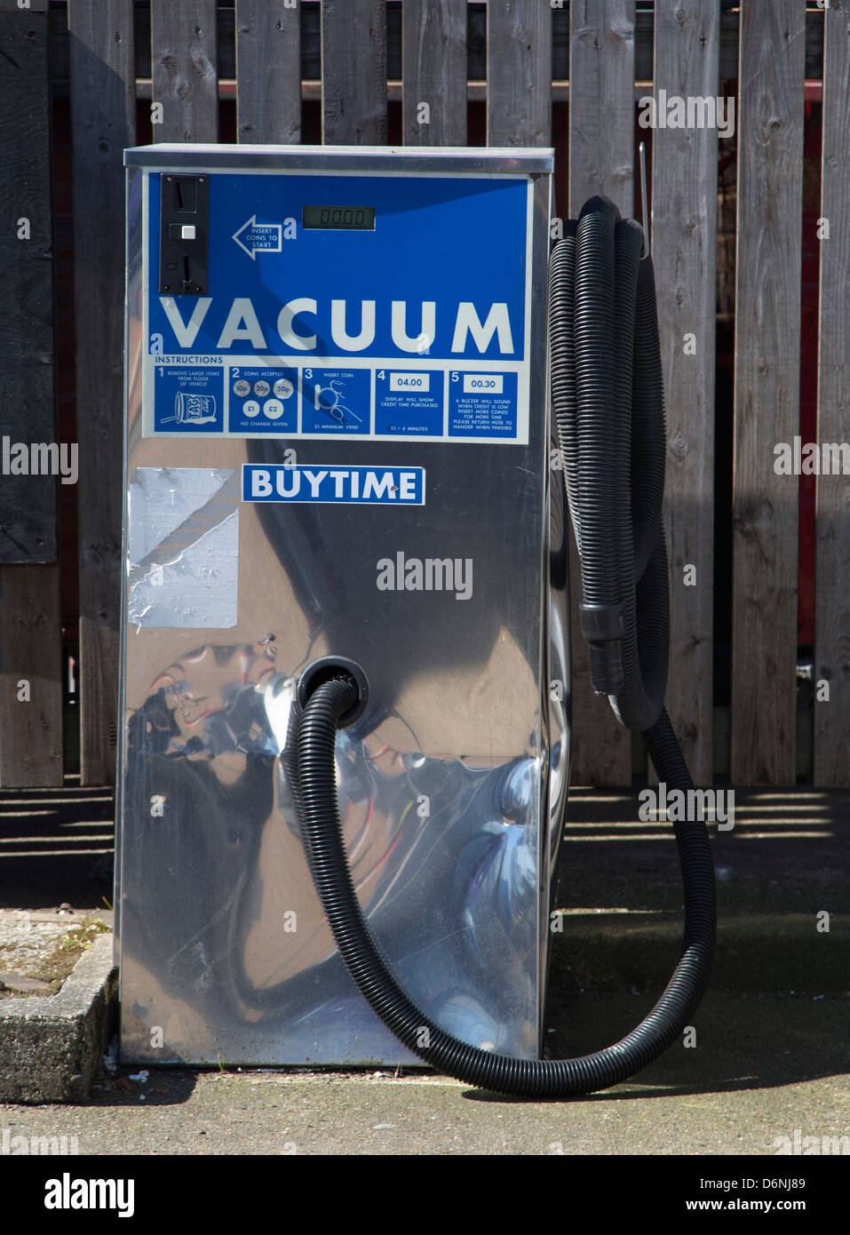 Garage Hoover Vacuum Vacuum Garage Coin Operated Car Cleaning Buy Time Stock Photo