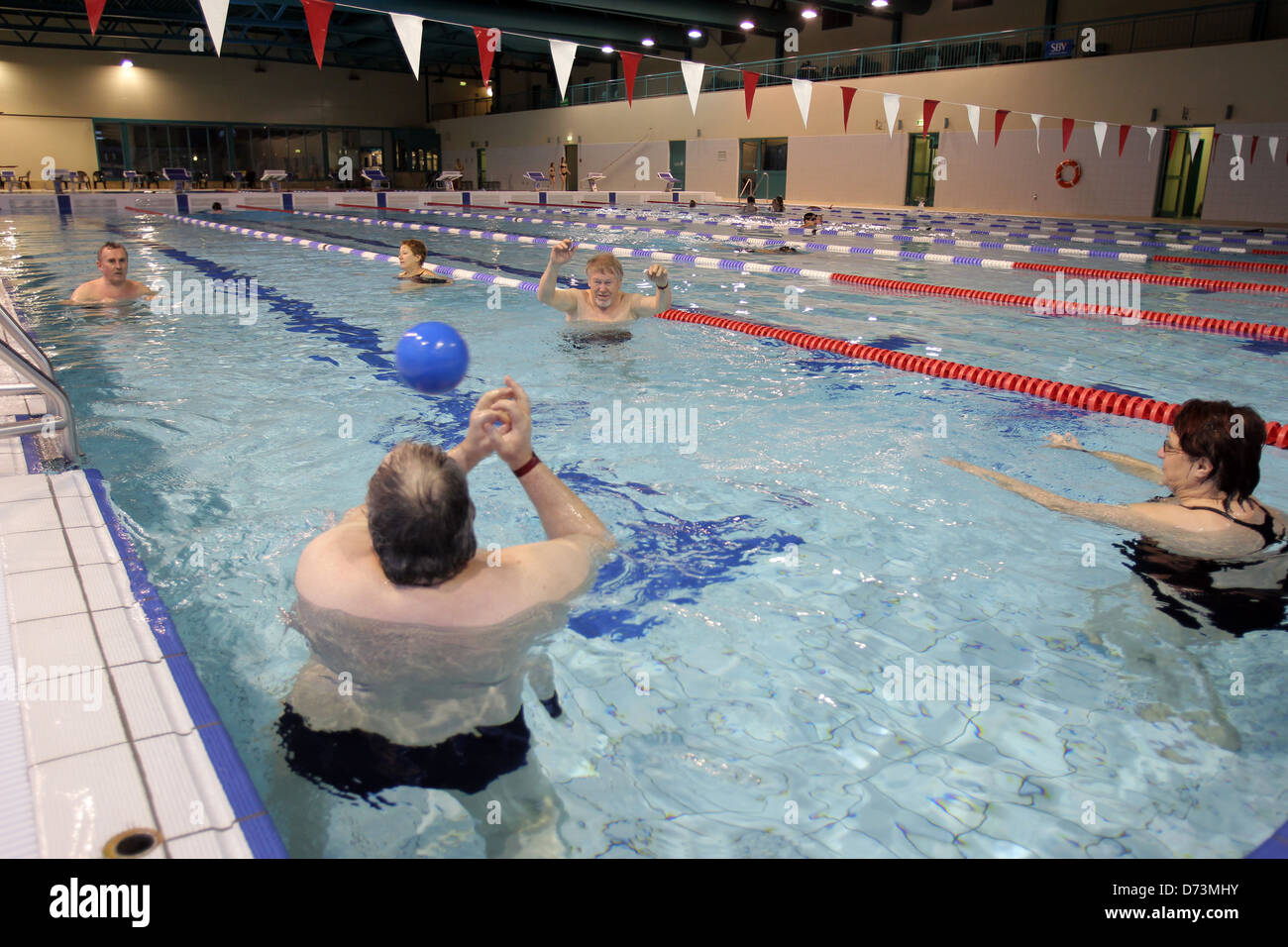Cash Pool Flensburg Flensburg Germany Aqua Aerobics In A Swimming Pool Stock Photo