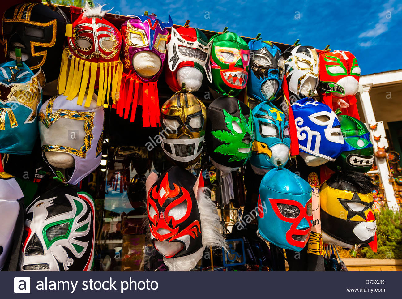 Lucha Libre Mexican Wrestling Masks Lucha Libre At A Shop In Old