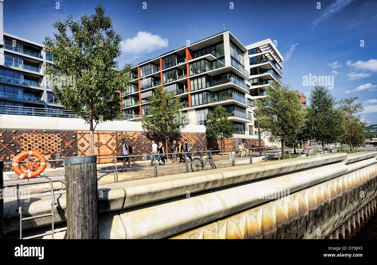 Hamburg Architektur Modern Architecture In The Imperial Quay In The Harbour City Of Stock Photo - Alamy