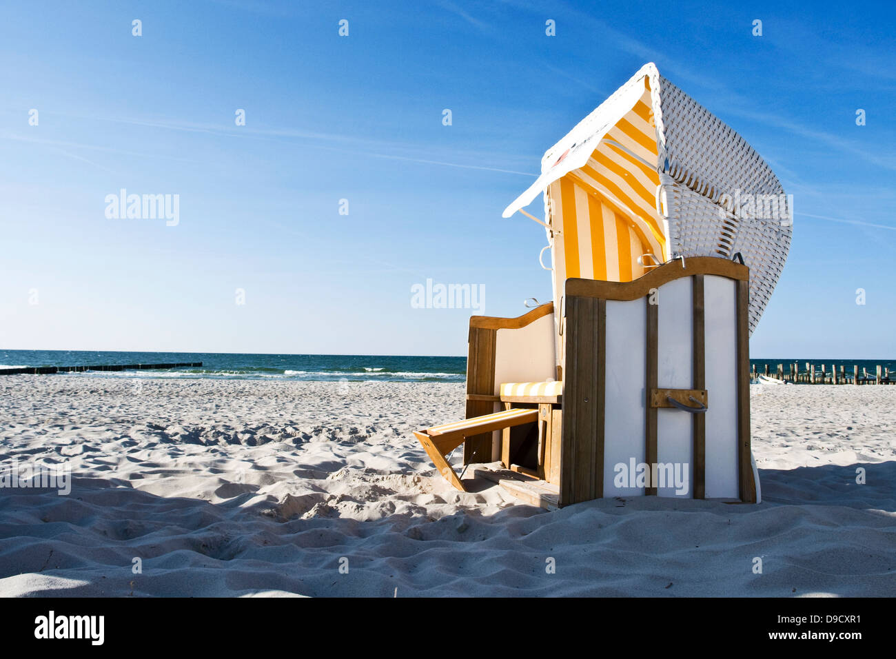 Germany Baltic Beach Basket Stock Photos Germany Baltic