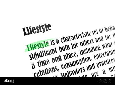 Lifestyle Dictionary Definition Stock Photos & Lifestyle ...