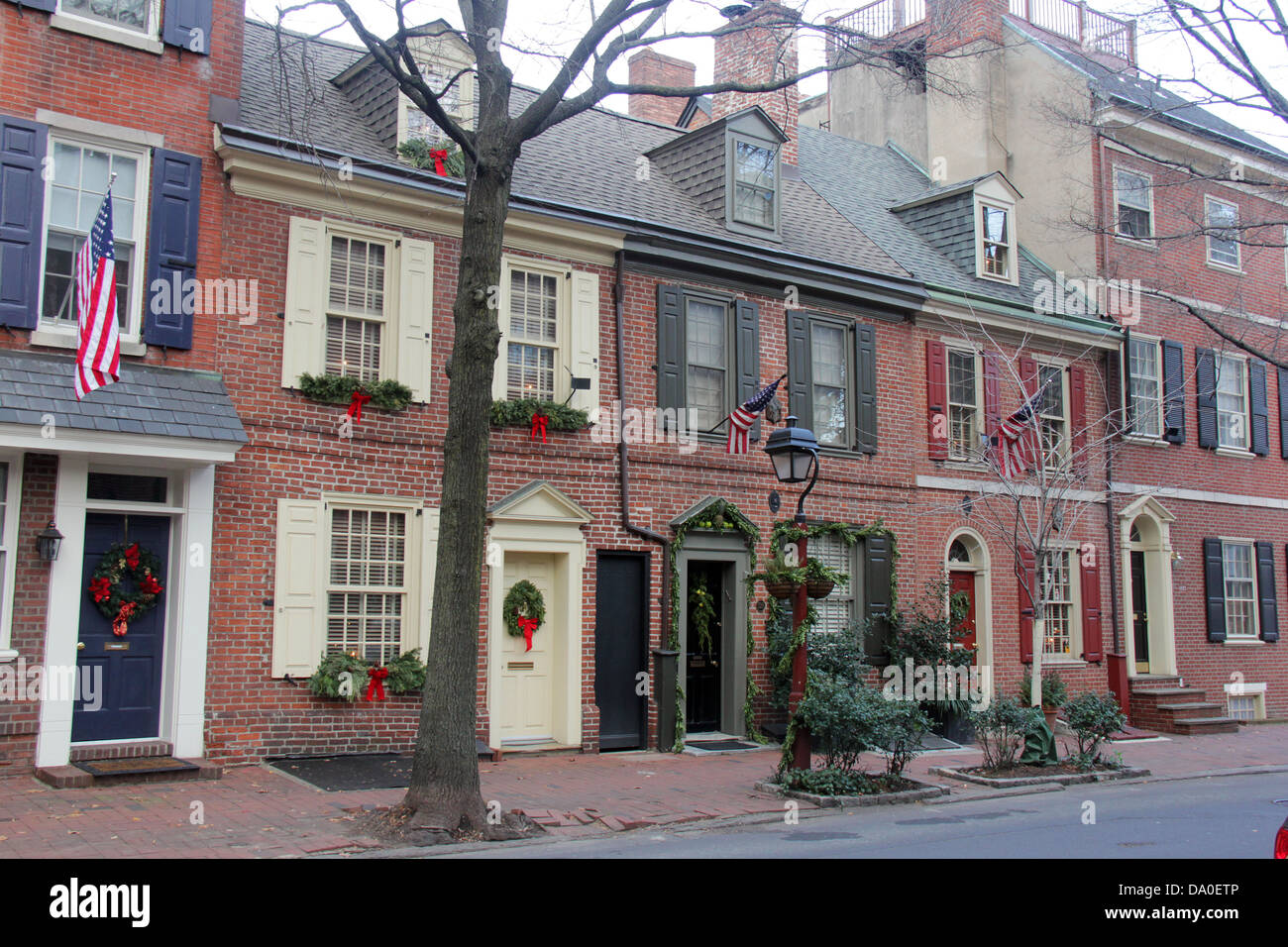 Fall Outdoor Decorations Wallpaper Colonial Houses In Philadelphia Pennsylvania With