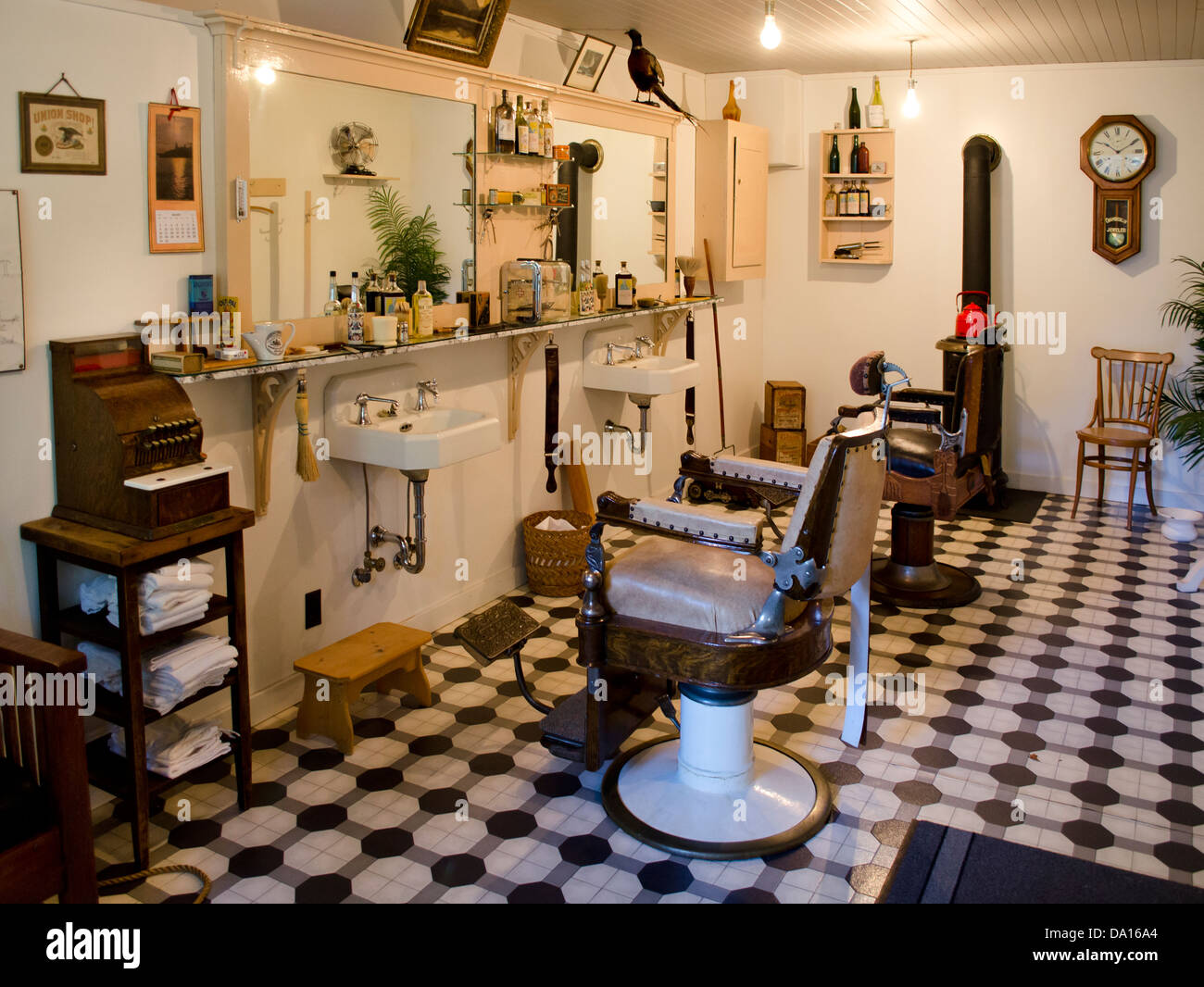 Old barber shop chairs - Download