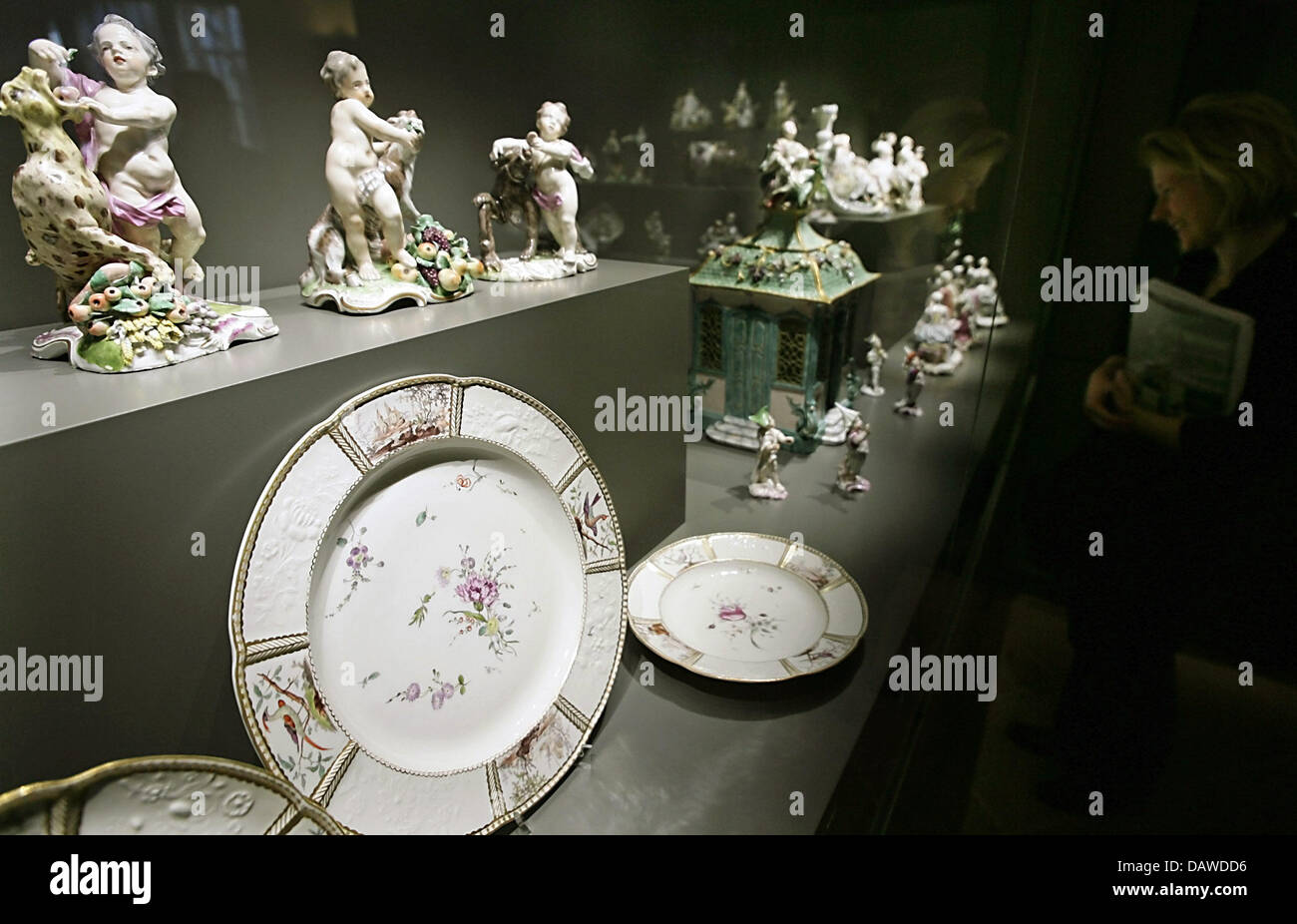 Mannheim Frankenthal Porcelain Of The Frankenthal Manufactury Is Displayed At The
