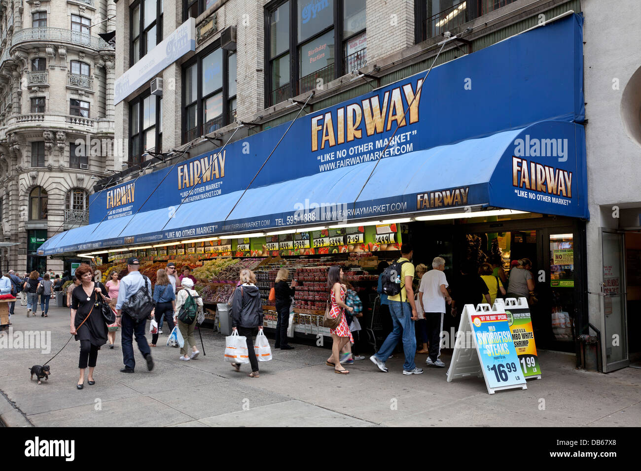 Fairway Shop Fairway Supermarket On Broadway New York City Stock Photo