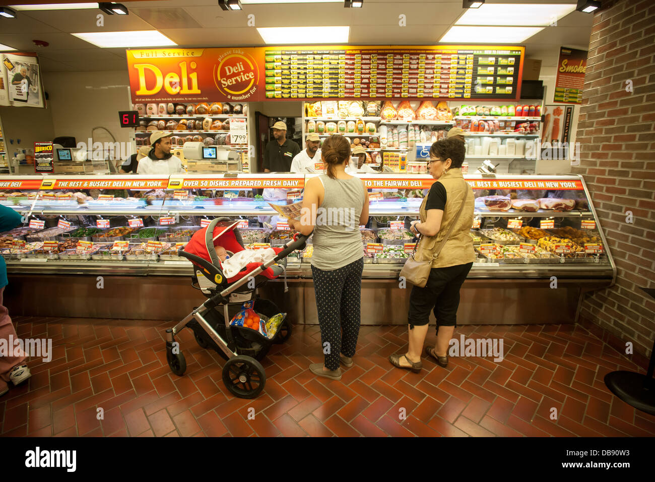 Fairway Shop Shoppers In The Deli Department At The Fairway Supermarket
