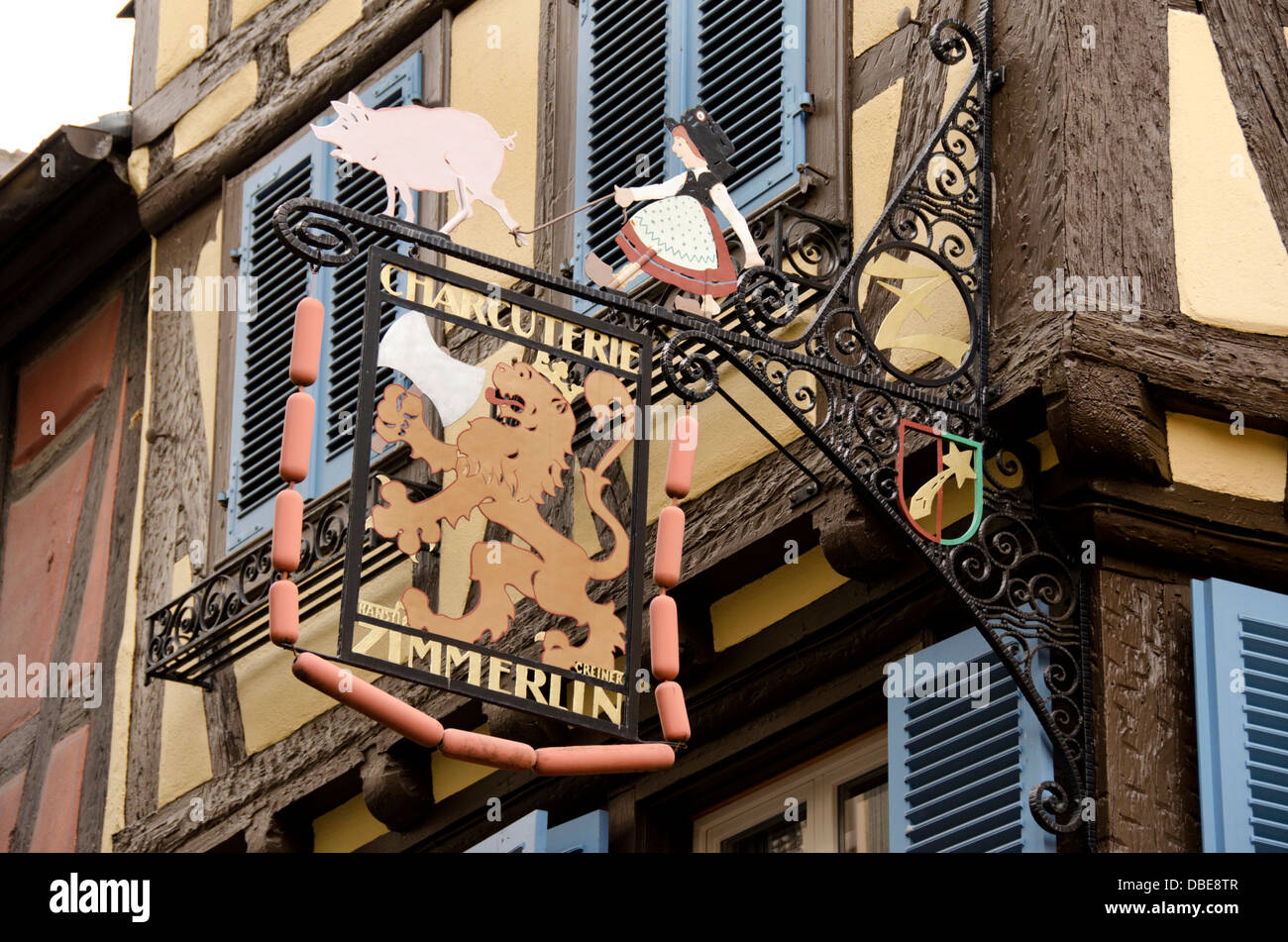 Iron Shop France Alsace Colmar Traditional Butcher Shop Wrought Iron