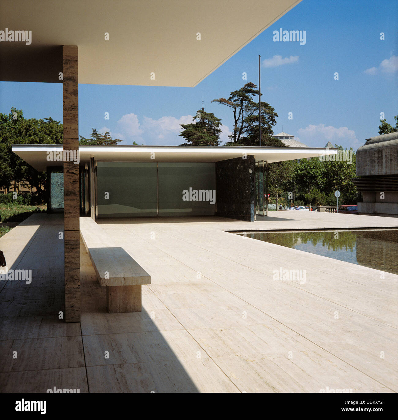 German Pavilion 1929 By Mies Van Der Rohe Barcelona Spain Stock Photo Alamy