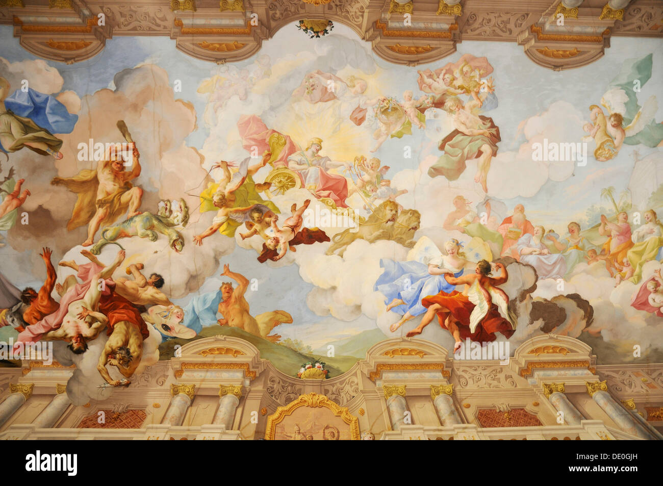 Ceiling painting in the Marble Hall, Melk Abbey or Stift