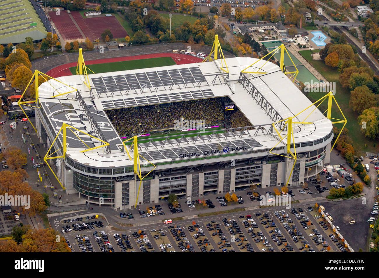 Autumn Fall Live Wallpaper Aerial View Signal Iduna Park Stadium Dortmund Ruhr