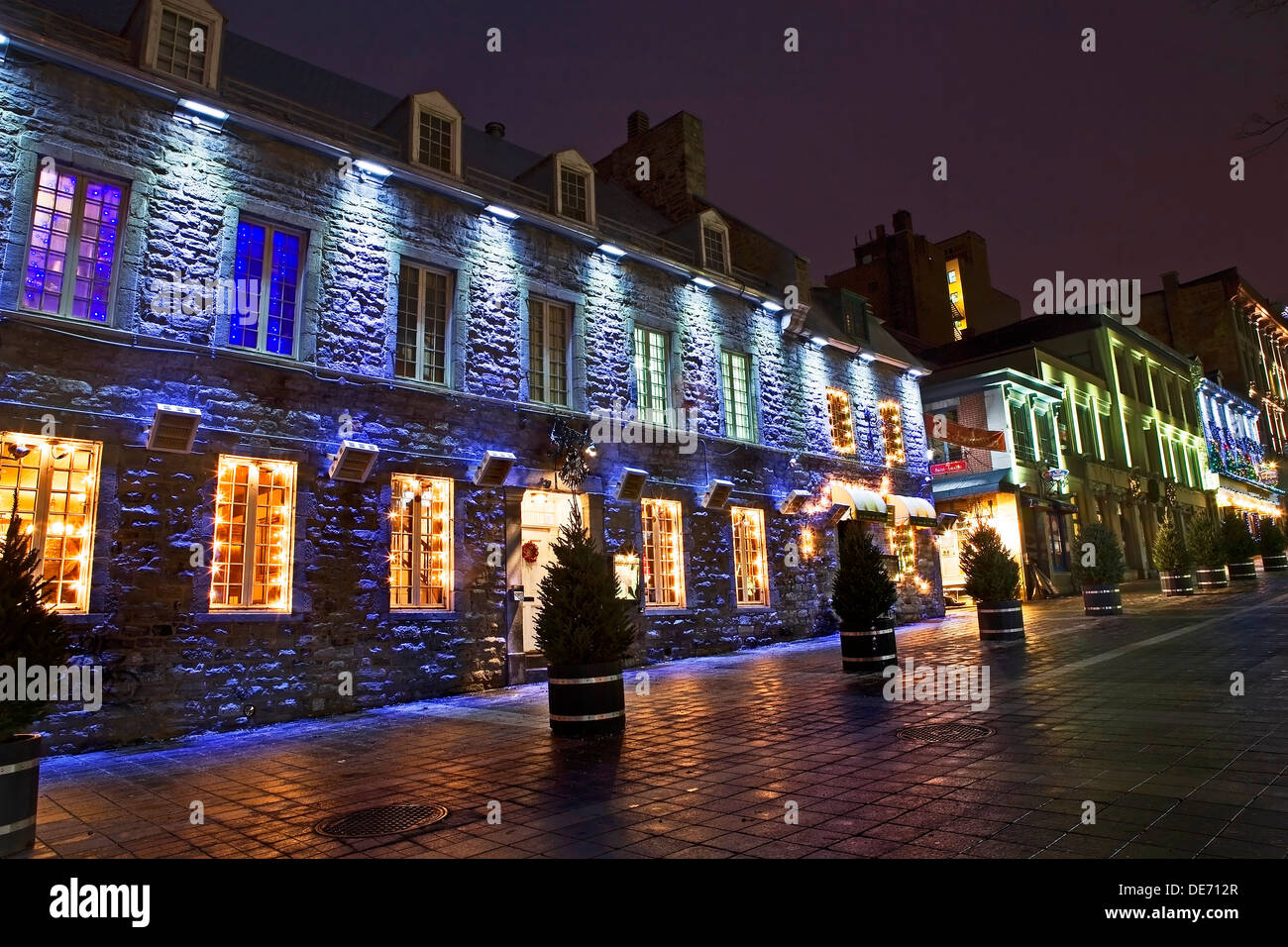 Lighting Stores In Montreal Quebec Canada Christmas Stock Photos And Quebec Canada