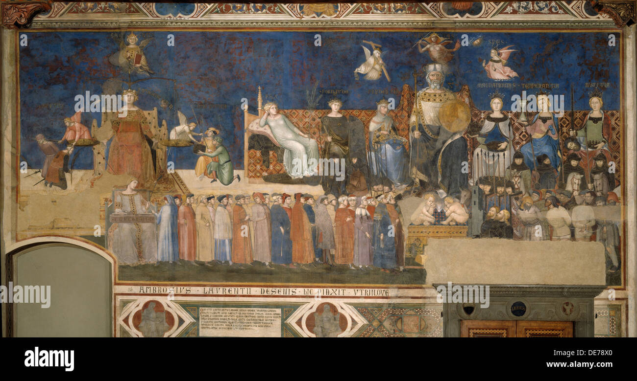 Rollschrank Bad Allegory Of Good Government Cycle Of Frescoes The