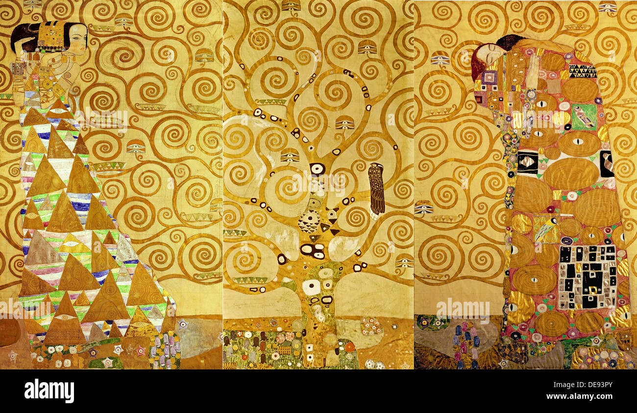 Klimt Fregio Stoclet The Stoclet Frieze Detail The Expectation Tree Of Life