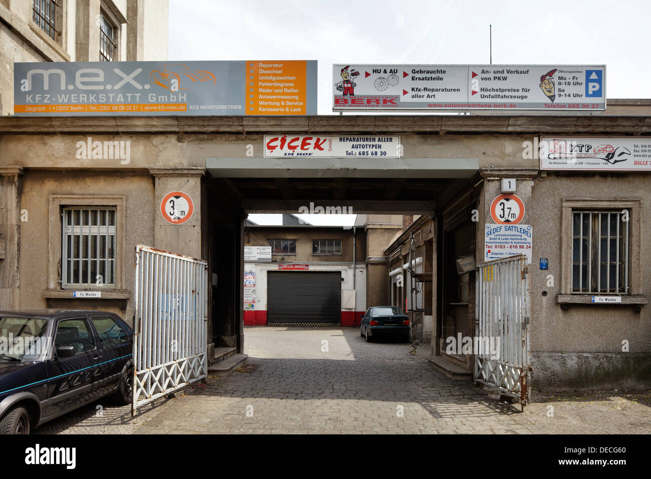 Gewerbehof Berlin Driveway Gate Germany Stock Photos And Driveway Gate Germany