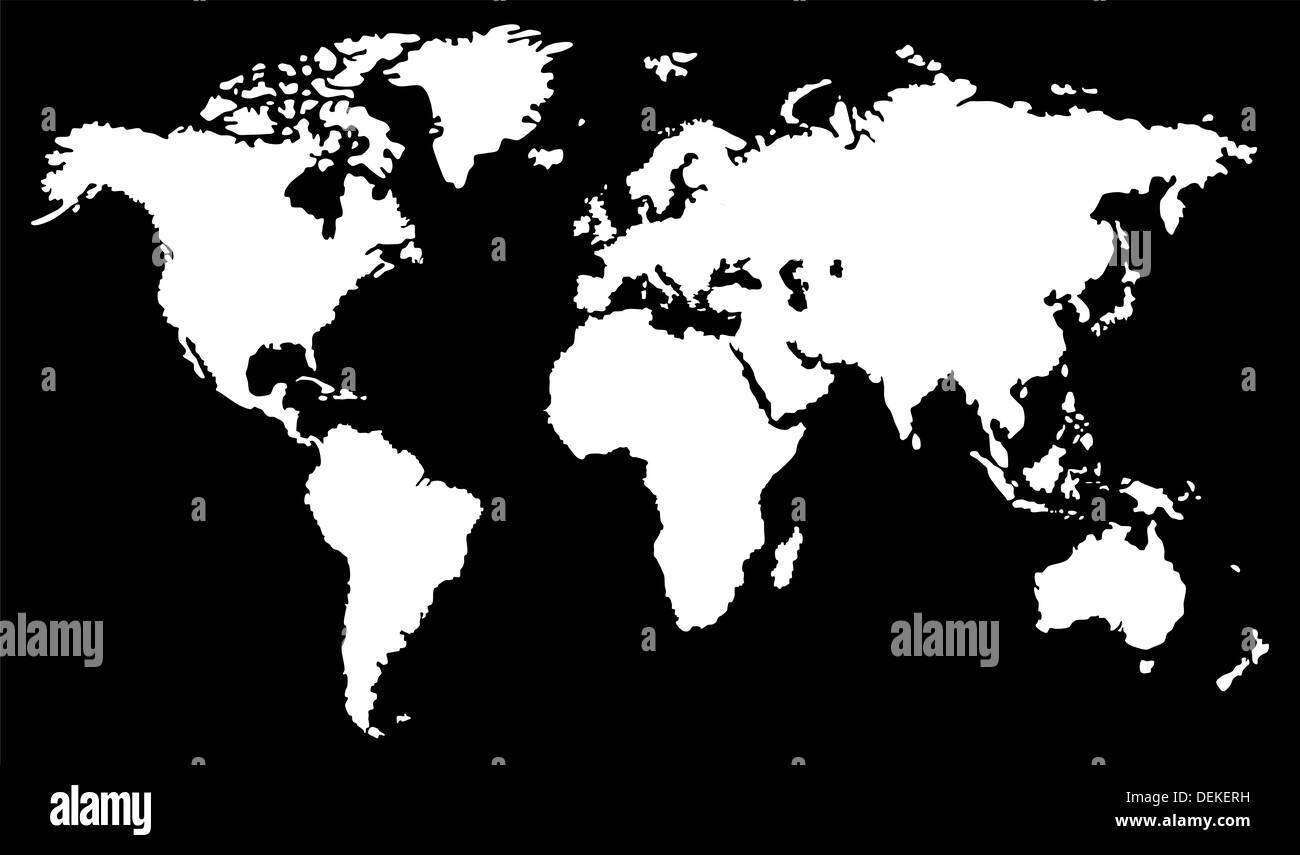 Zwart Wit Wereldkaart India Map Outline Black And White Stock Photos And Images