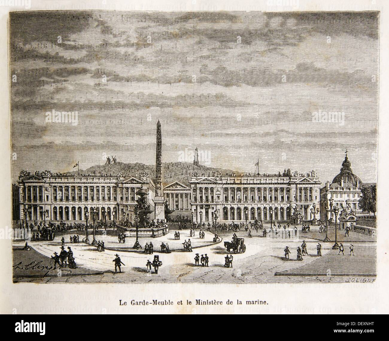 France Garde Meubles Hôtel Du Garde Meuble And The Naval Ministry 18th Century Paris