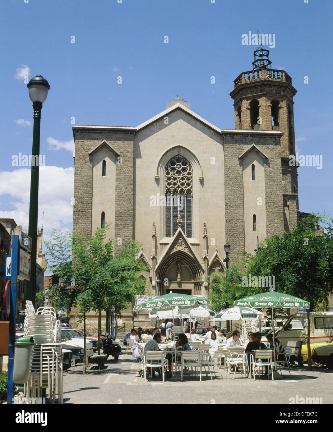 Sabaedell Church Of Sant Felix Sant Roc Square Sabadell Barcelona