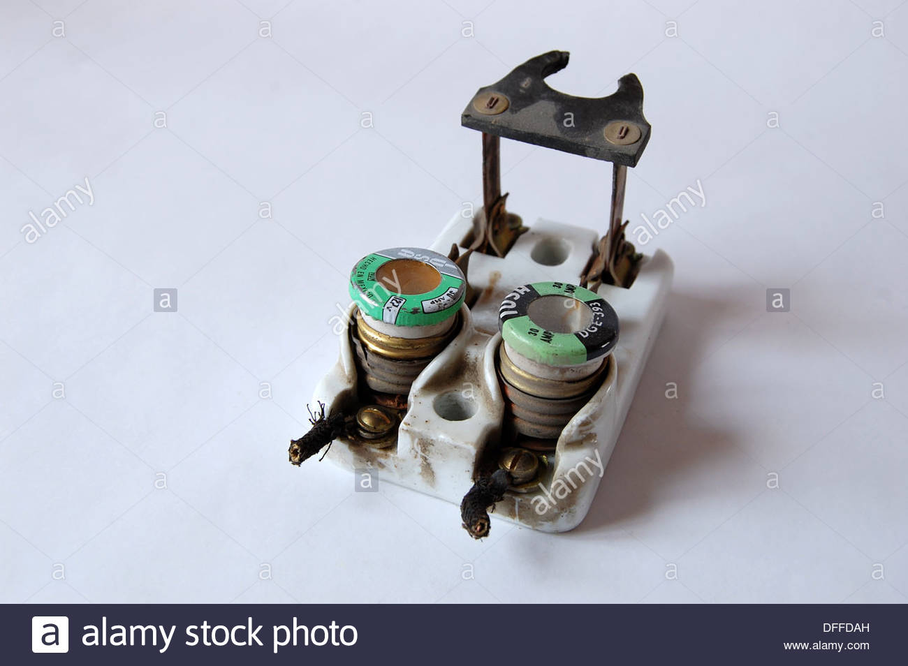 1940s Old Fuse Box Auto Electrical Wiring Diagram Ceramic Fuses 1950s Vintage Circuit Breaker