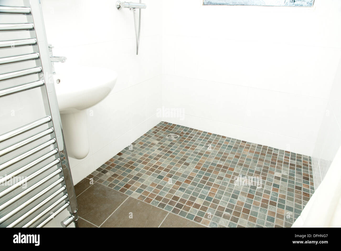 A Specially Adapted Wet Room Shower Bathroom With Non
