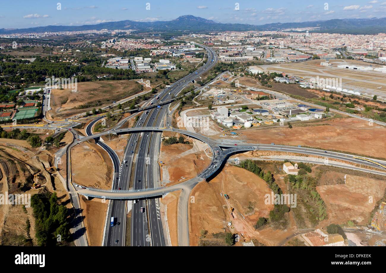 Sabaedell Highway Sabadell Barcelona Spain Stock Photo 61279419 Alamy