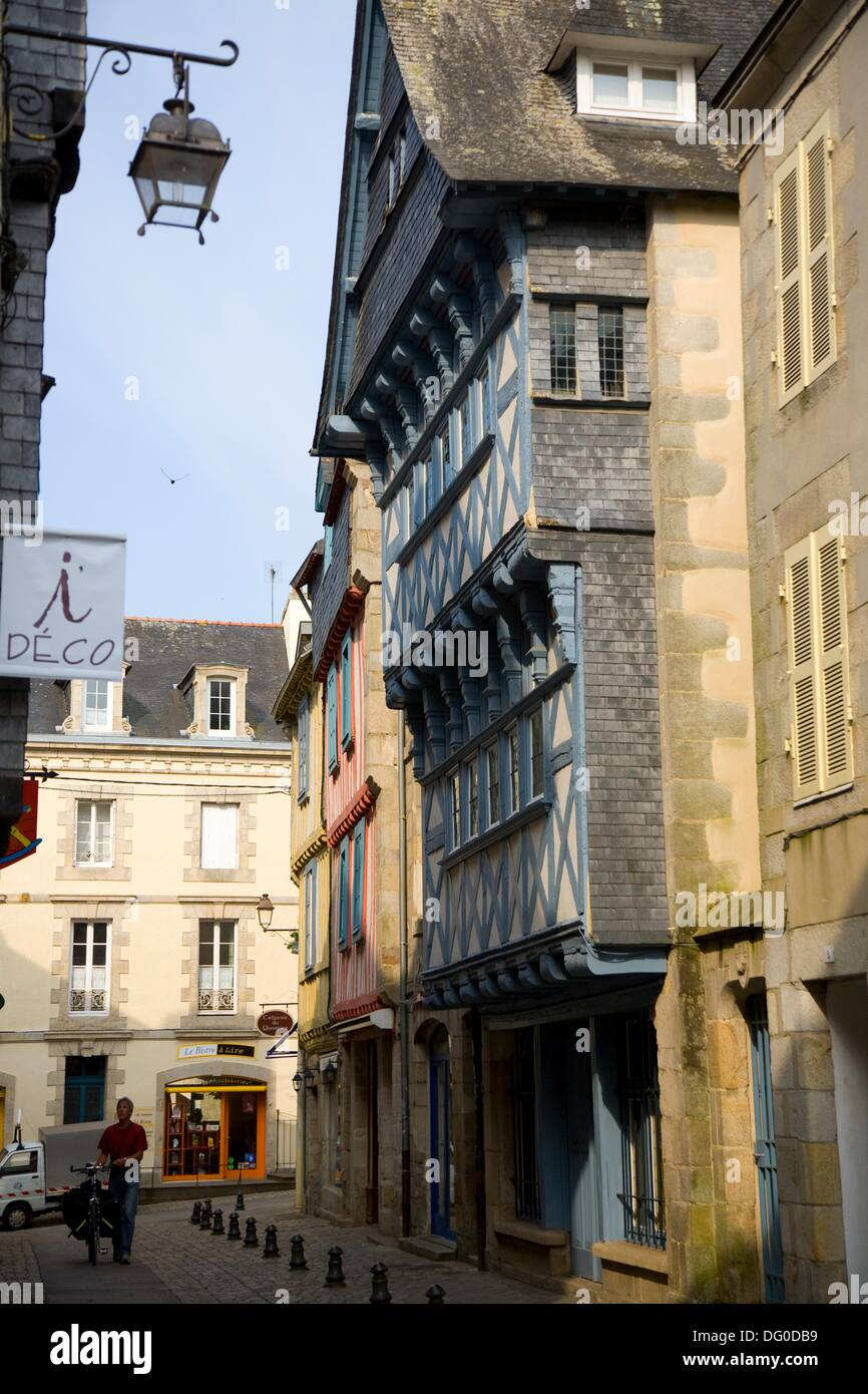 Deco Quimper Medieval City Of Quimper Finistere Brittany France Stock Photo