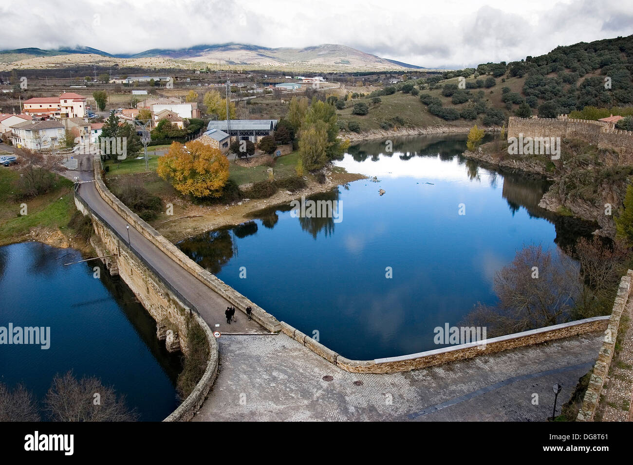 Piscinas Buitrago Lozoya River Buitrago De Lozoya Madrid Spain Stock Photo