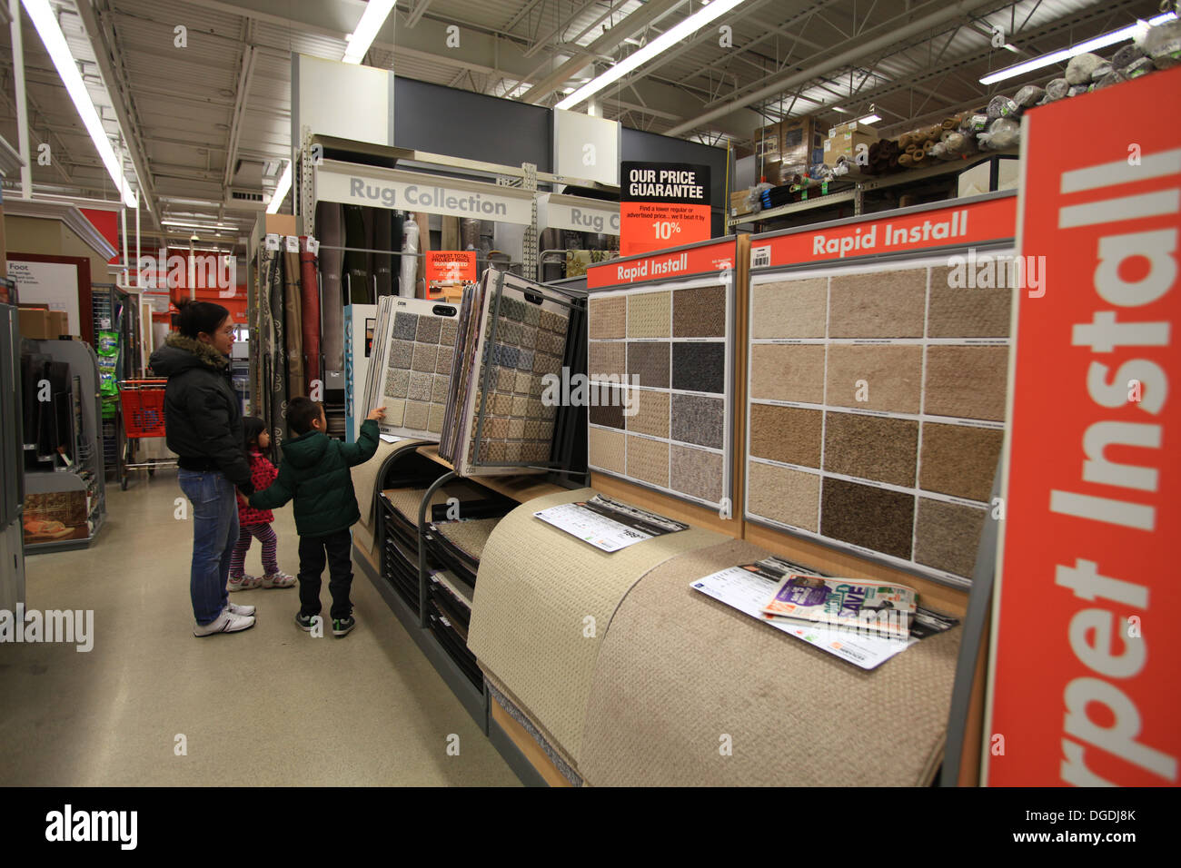 Home Depot Carpets Canada Flooring Carpet Samples On Display In The Home Depot