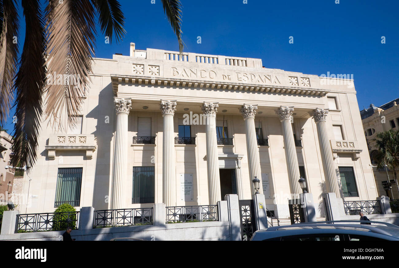 Art deco style architecture banco de espa a completed 1936 in malaga spain architect jose yarnoz