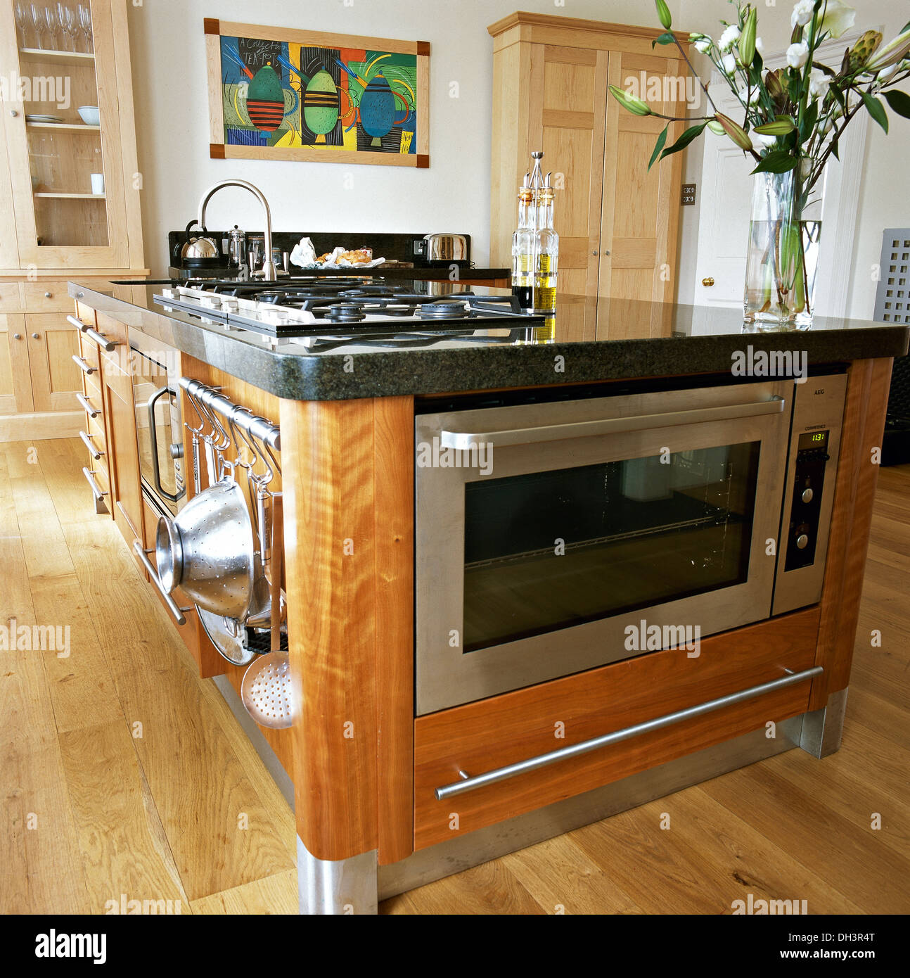 Oven In Island Unit Stainless Steel Oven And Integral Hob In Central Island