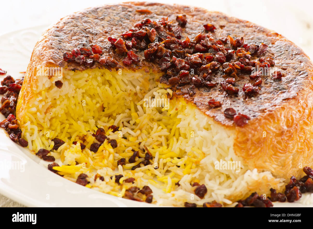 My Asia Küche Lichterfelde Ost Persian Rice With Berberis Tadig Stock Photo 62554115 Alamy