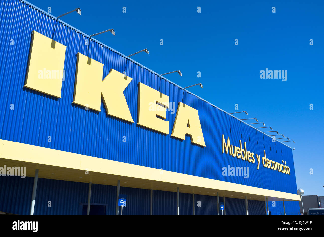 Ikea Front Dh Ikea Superstore Europe Ikea Shop Front Sign Arrecife Lanzarote Stock Photo - Alamy