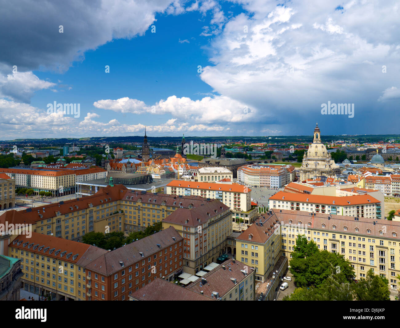 Bebe Dresden View Of Dresden With Frauenkirche Saxony Germany Stock Photo