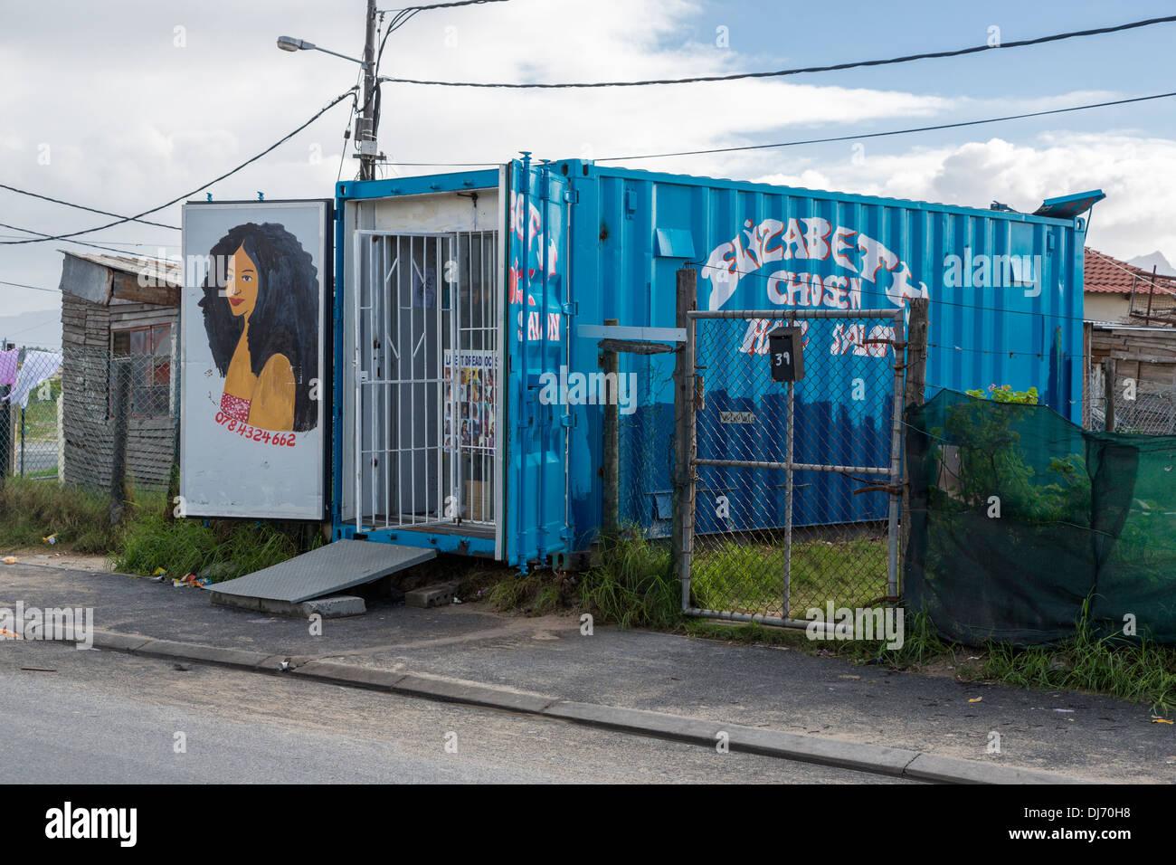 South Africa Cape Town Guguletu Township Hair Salon In