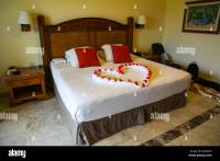 Heart shaped Bed decoration at 5 star hotel Catalonia ...
