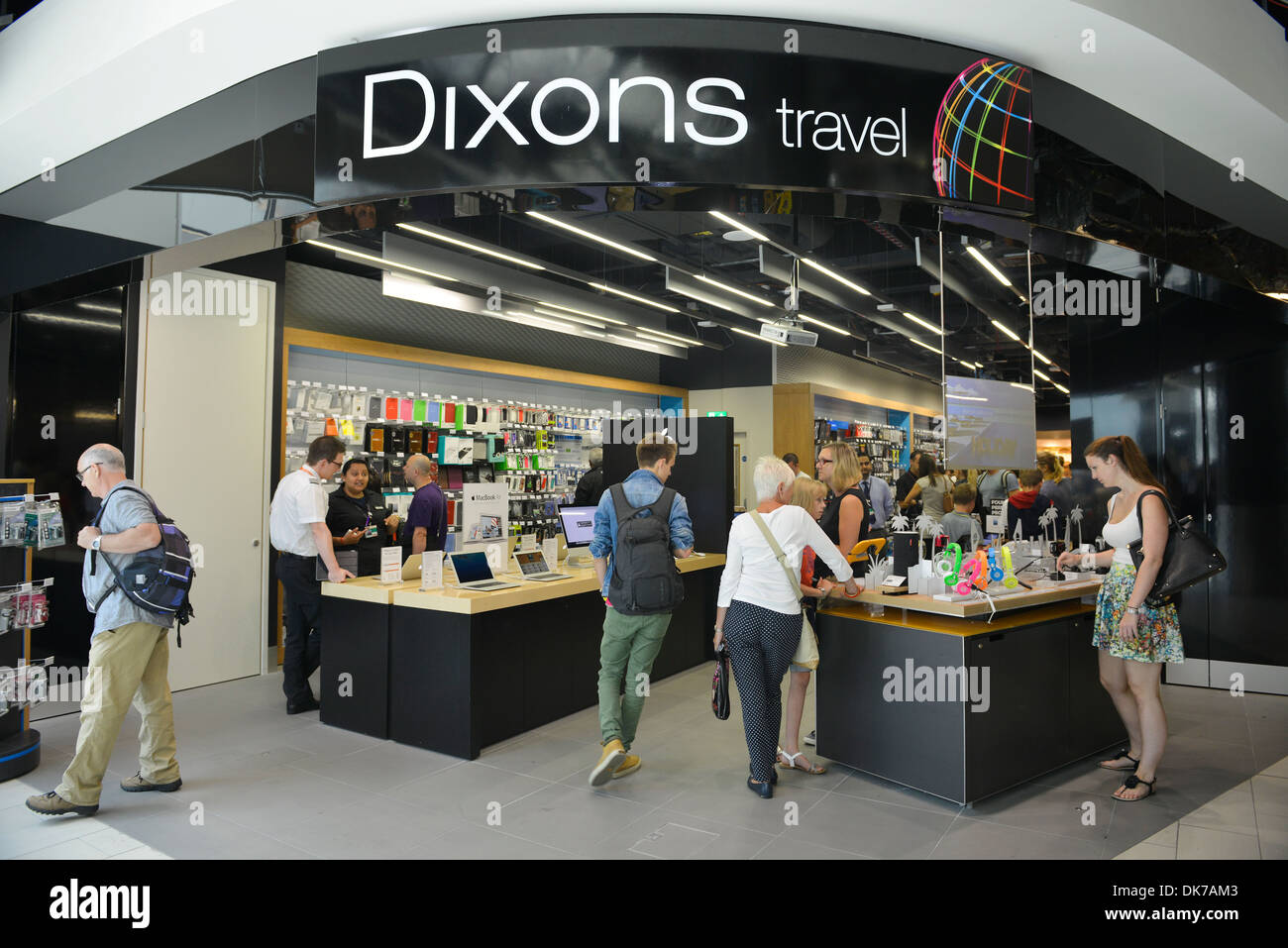 Boutique Free Tours Dixons Travel Shop At Gatwick Airport Britain Uk Stock
