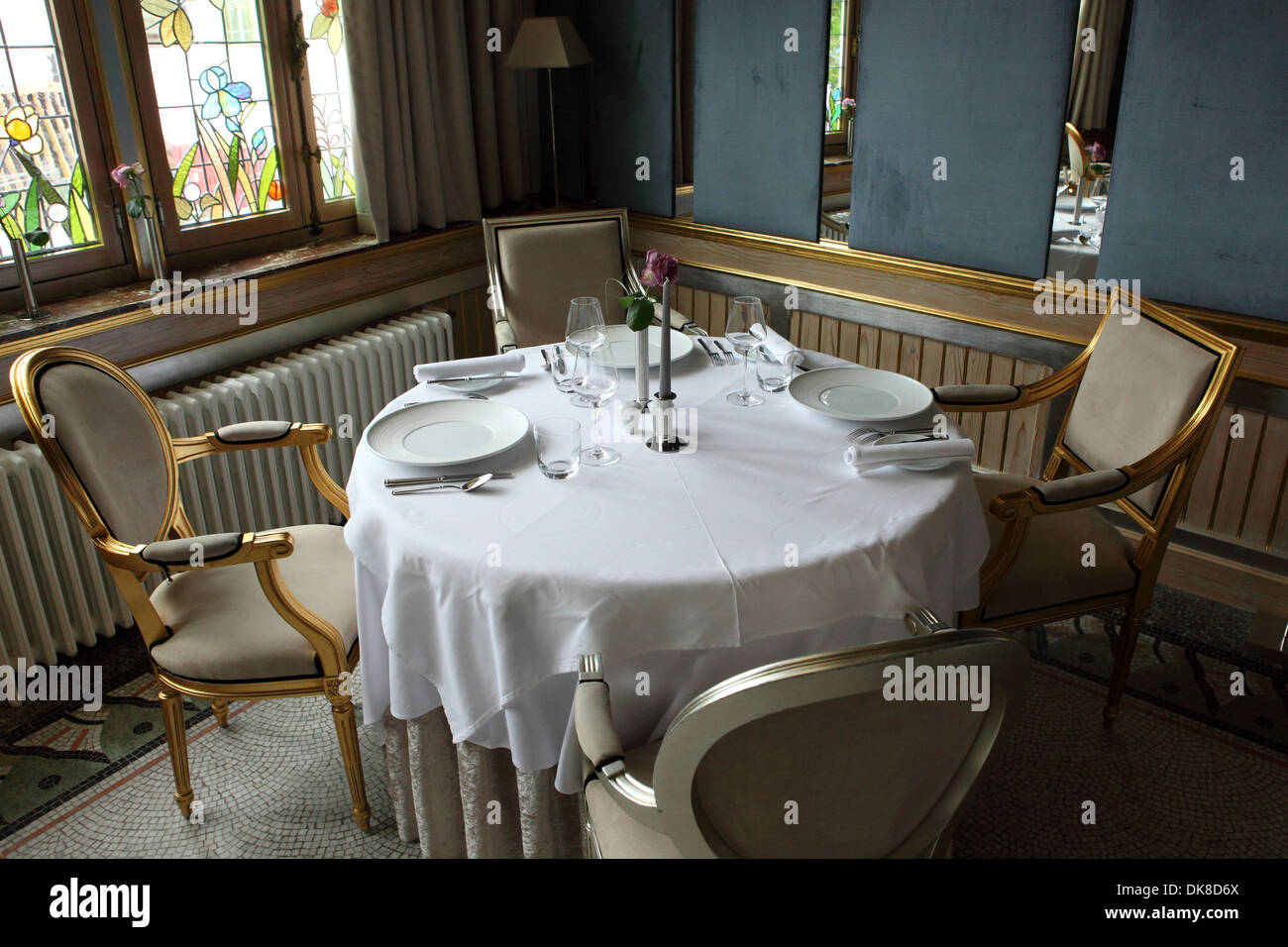 Table Luxembourg An Unset Dinner Table In Luxembourg Stock Photo 63495570 Alamy