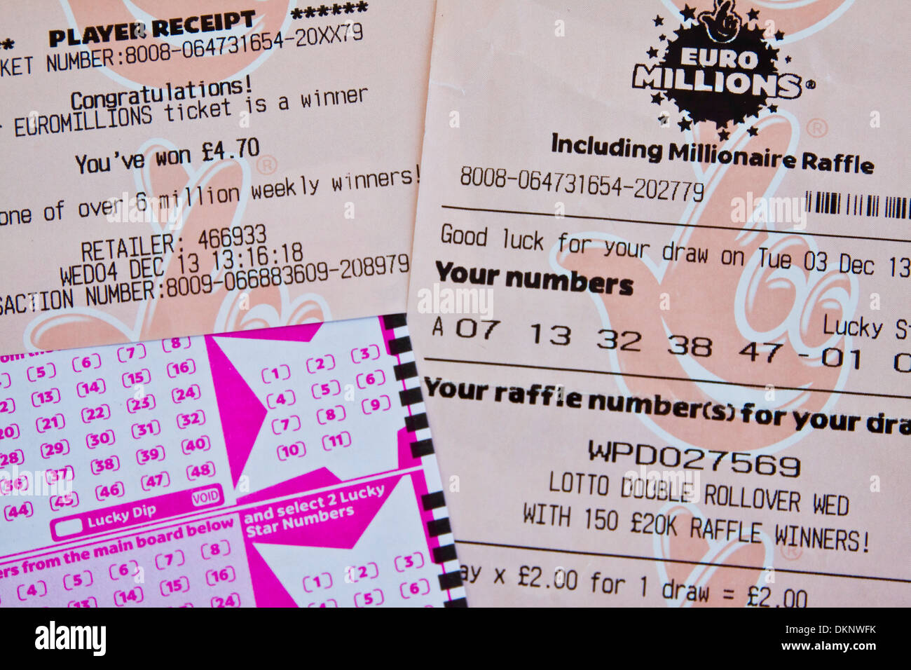 Lotto Euromillions National Lottery Euro Millions Ticket Game Slip And Winning
