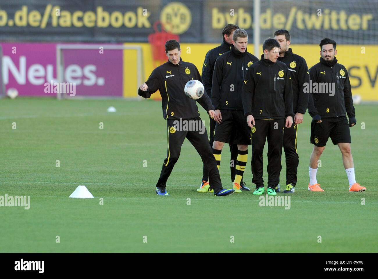 Facebook Dortmund Dortmund Germany 05th Jan 2014 Borussia Dortmund S Robert