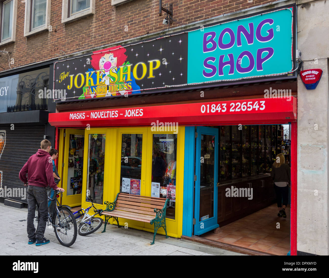 The Online Joke Shop Joke Shop Bong Shop Margate High Street Kent Stock Photo
