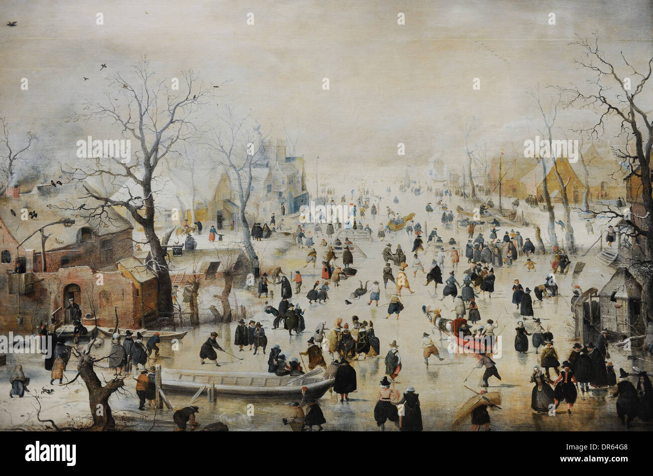 De Stomme Van Kampen Hendrick Avercamp (1585-1634). Dutch Painter. Winter