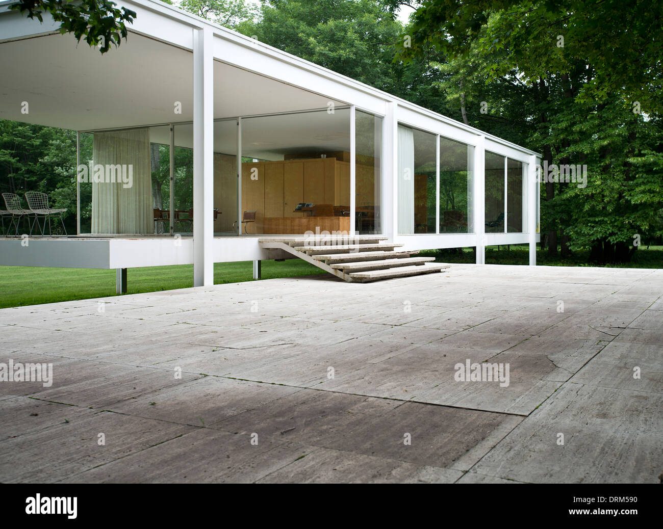 Ludwig Mies Van Der Rohe Farnsworth House Plano United States Architect Ludwig