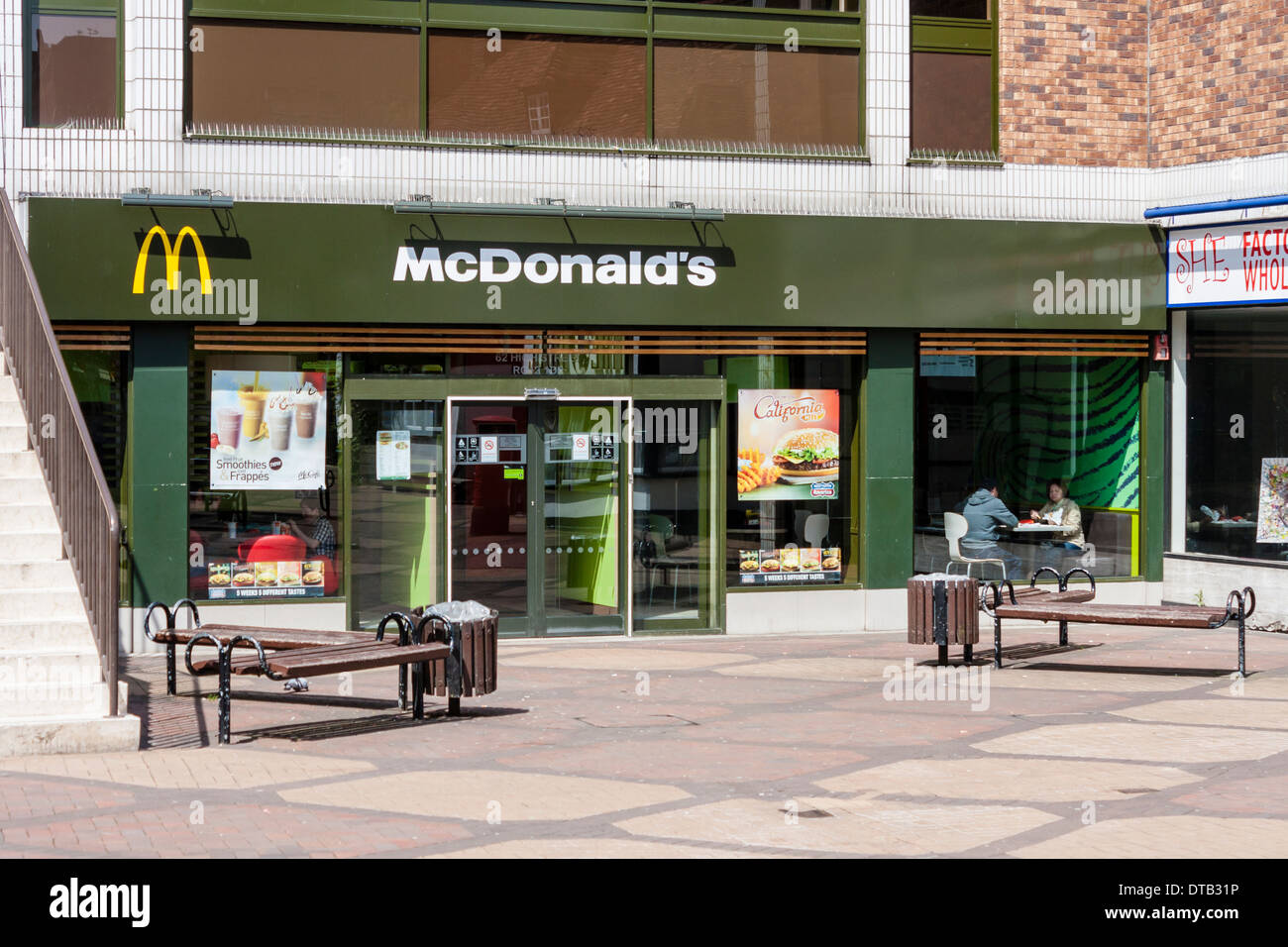 Mcdonalds Kitchen Equipment List Outside Mcdonalds Uk Stock Photos And Outside Mcdonalds Uk