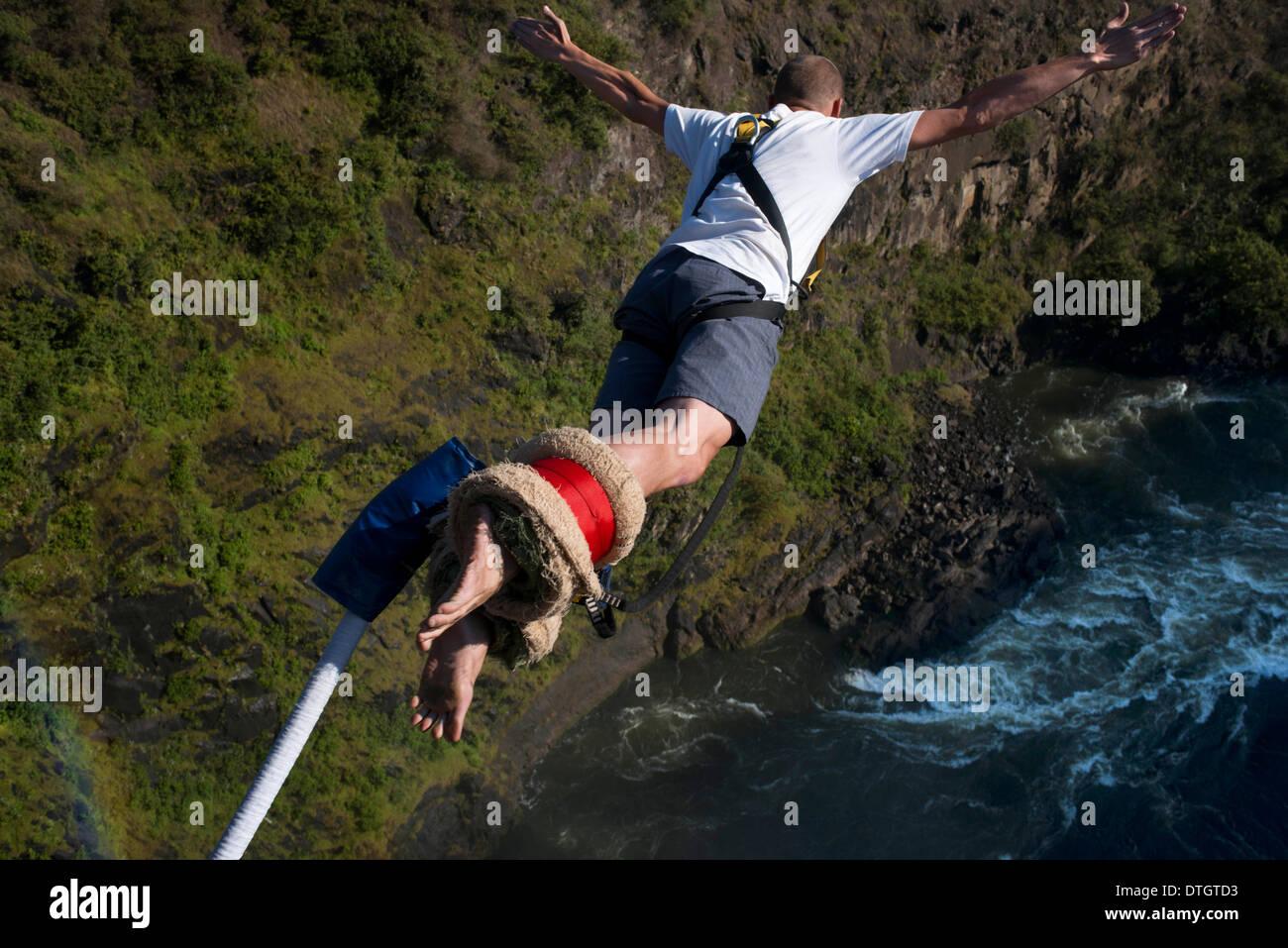 Victoria Falls Live Wallpaper Bungee Jumping At Victoria Falls Over Zambezi River